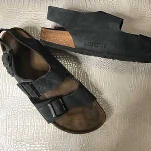 Birkenstock gray sandals